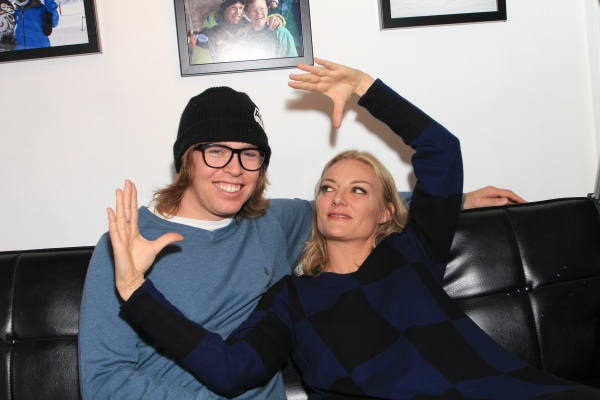 "Lucy Walker and Kevin Pearce, Sundance 2013, ""The Crash Wheel"""