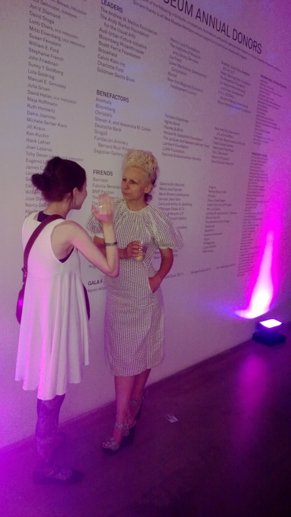 Glowing whitewashed ladies at New Museum White Party 2013